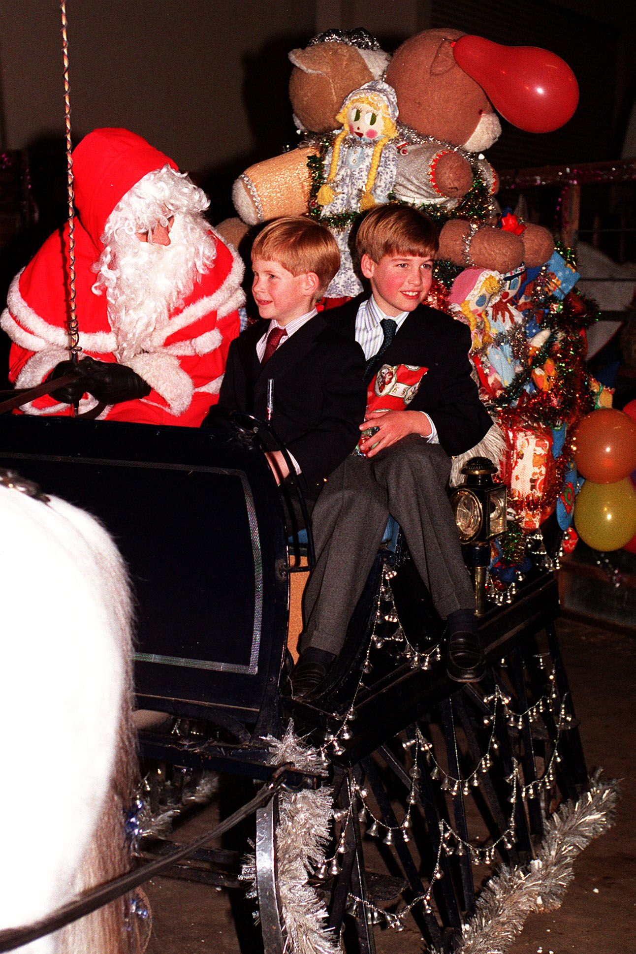 PRINCE WILLIAM MEETS FATHER CHRISTMAS