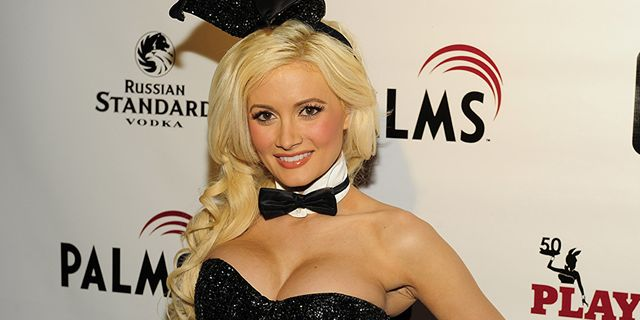 las vegas   june 10  television personality holly madison arrives for the playboy clubs 50th anniversary at the playboy club in the palms casino resort on june 10, 2010 in las vegas, nevada  photo by steven lawtonwireimage