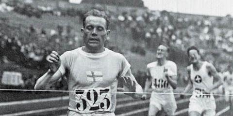 Paavo Nurmi winning Olympic gold in 1924