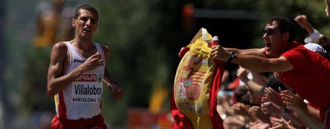pablo villalobos compite en el maratón en barcelona en los europeos de 2010
