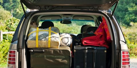suv packed for vacation