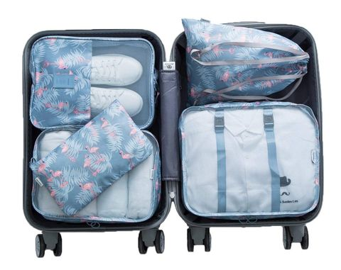 Packing Cubes for Travel - Flamingo design