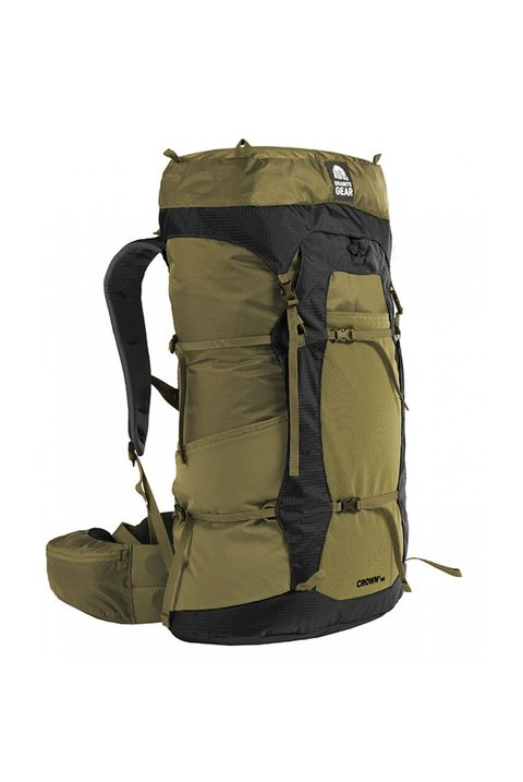 Backpack, Bag, Hiking equipment, Luggage and bags, Khaki, Backpacking, Outerwear, Beige, Jacket,