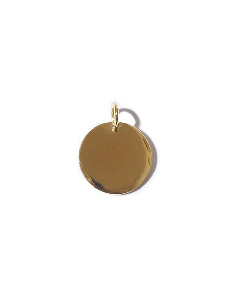 Jewellery, Fashion accessory, Pendant, Yellow, Locket, Circle, Metal, Beige, Brass, Oval,