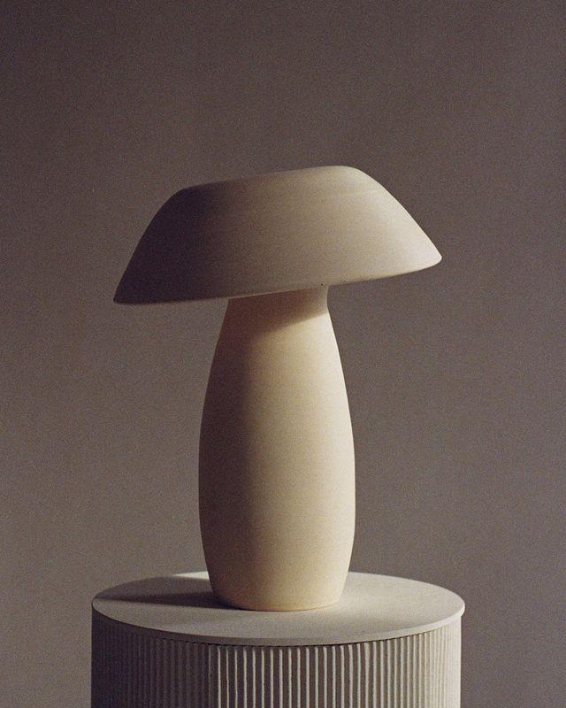 mushroom lamp van nicholas pourfard