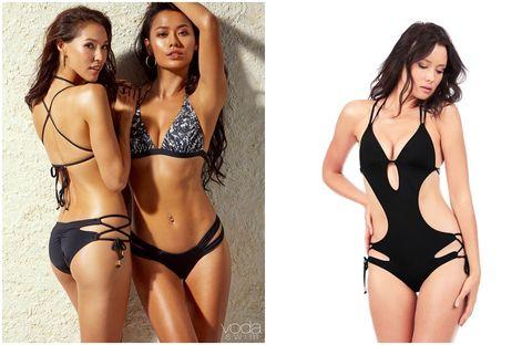 Swimwear, Bikini, Clothing, Lingerie, Monokini, Undergarment, One-piece swimsuit, Model, Fashion model, Swimsuit bottom,