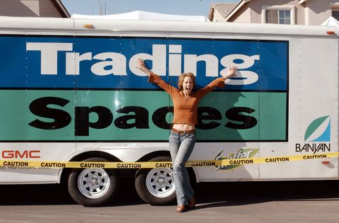 Paige Davis and Vern Yip on Location for 'Trading Spaces' in Las Vegas on January 25, 2003