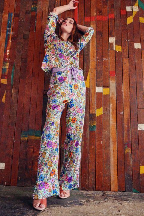 jessica russell flint printed floral pyjama set sleepwear