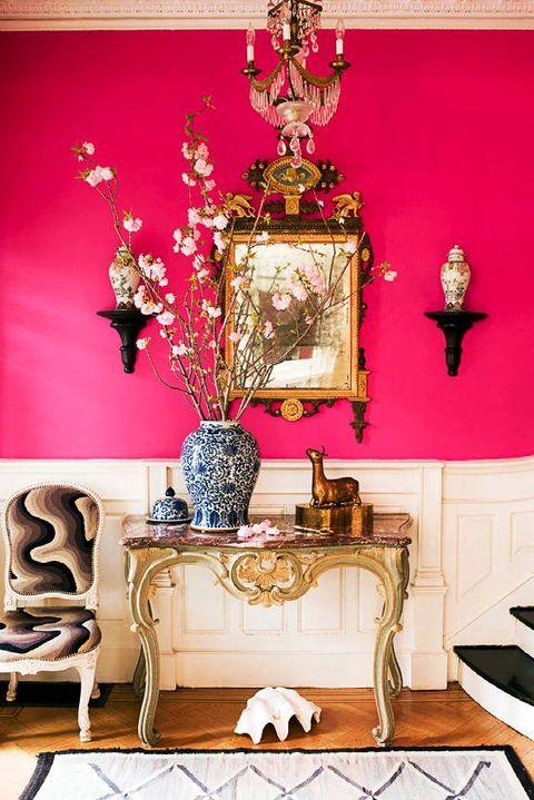 hot pink hallway