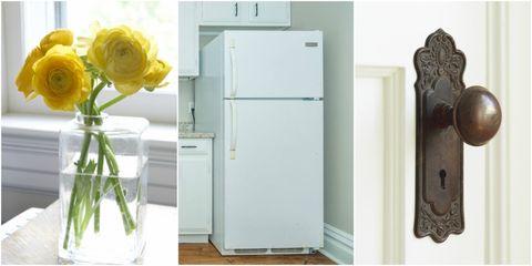 Major appliance, Refrigerator, Room, Door, Furniture, Cupboard, Wardrobe, Home appliance, Home door,