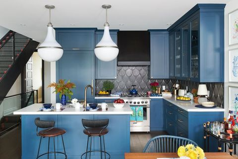 15 Best Painted Kitchen Cabinets - Ideas for Transforming ... Ideas For Blue Kitchen Cabinets on two tone kitchen cabinet ideas, dark kitchen cabinet ideas, blue bedroom furniture ideas, painted kitchen cabinet ideas, blue carpeting ideas, unique kitchen cabinet ideas, kitchen cabinet storage ideas, blue walls ideas, rustic blue kitchen ideas, light blue kitchen ideas, blue design ideas, blue and green kitchen ideas, blue kitchen floor ideas, blue granite kitchen ideas, blue and yellow kitchen, blue kitchen remodeling ideas, kitchen backsplash ideas, blue showers ideas, blue kitchen wallpaper ideas, blue landscaping ideas,