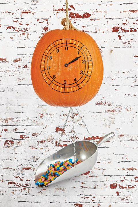 painted pumpkin clock