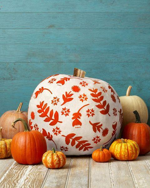 pumpkin painting ideas botanical