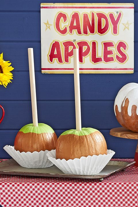 painted pumpkins caramel apples