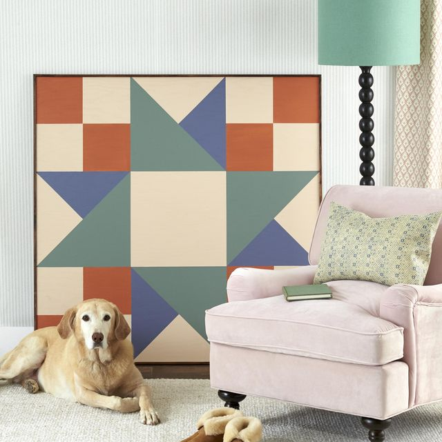 oversized painted quilt square