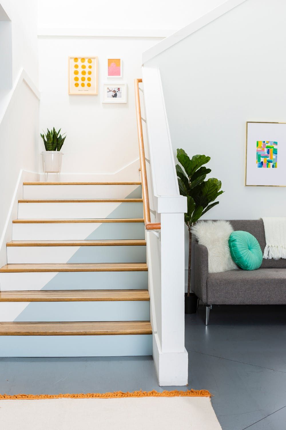 25 Pretty Painted Stair Ideas Creative Ways To Paint A Staircase