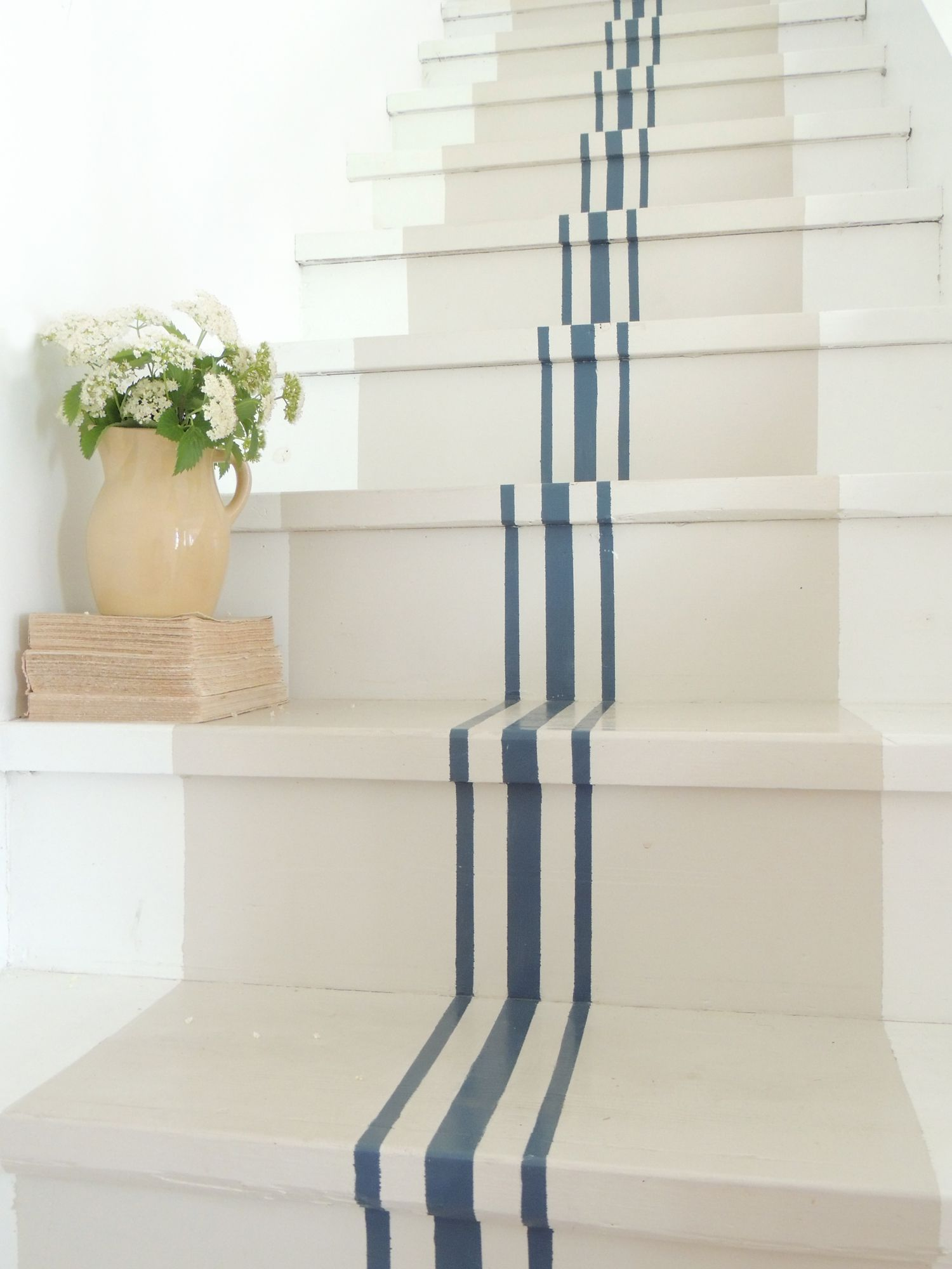 18 Pretty Painted Stairs How To Paint Stair Rails Risers And More