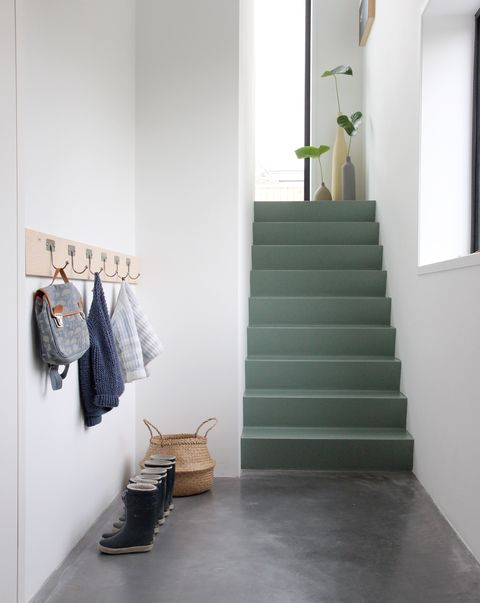 painted staircase by stylist tessa hop