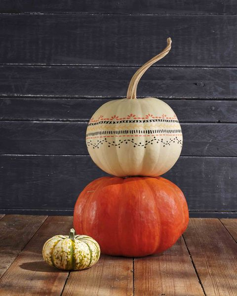 painted stencil pumpkin