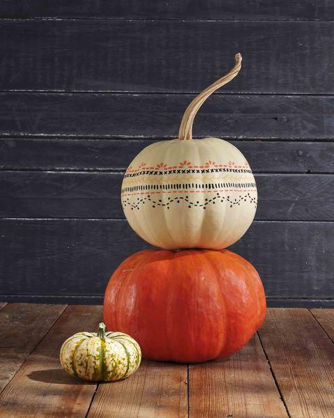 painted stencil pumpkin