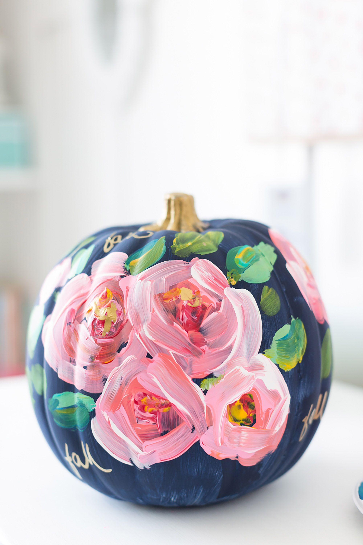 Halloween Pumpkin Painting Ideas No Carve Pumpkin Decorating - How to paint a pumpkin