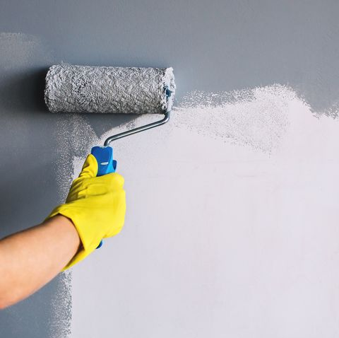 painting wall in grey