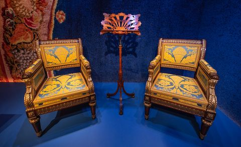 """Pair of Regency Chairs from """"Treasures from Chatsworth."""""""