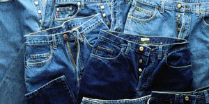 Pairs of jeans, full frame