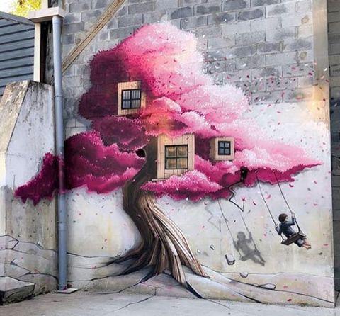 Obra streetartdel grafitero francés Pakone