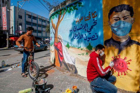 PALESTINIAN-GAZA-HEALTH-VIRUS