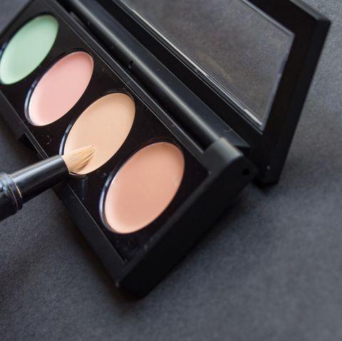 palette with different makeup correctors