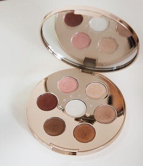Cosmetics, Pink, Eye shadow, Product, Eye, Face powder, Organ, Cheek, Peach, Powder,