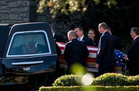 Departure Ceremony Held As Body Of President Bush Flown To Washington DC