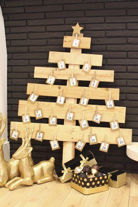 15 pallet christmas tree ideas diy wood christmas tree plansChristmas Tree Advent Calendar Diagram #19