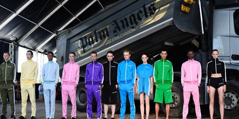 Fashion, Pink, Purple, Youth, Footwear, Automotive design, Performance, Stage, Team, Event,