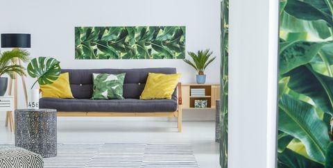 palm leaf print home