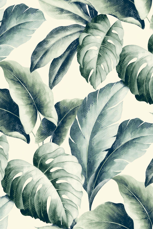 Palm printed wallpaper