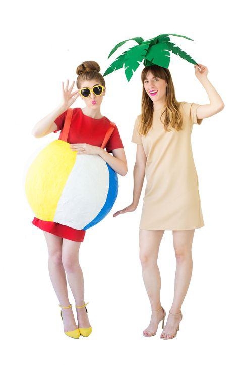 palm tree beach ball costume