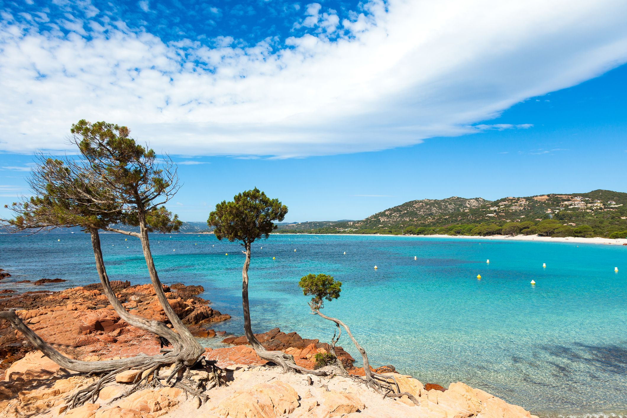 best beaches europe -Palombaggia beach in Corsica Island in France