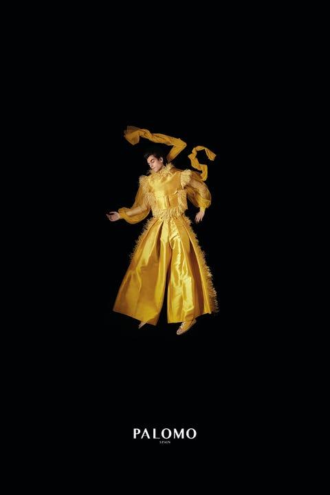 Yellow, Costume design, Fictional character, Illustration,