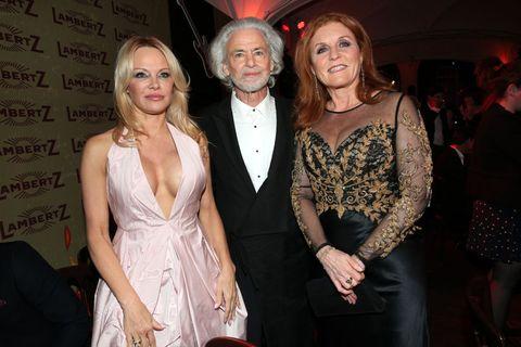 Pamela Anderson y Sarah Ferguson en Lambertz Monday Night 2019