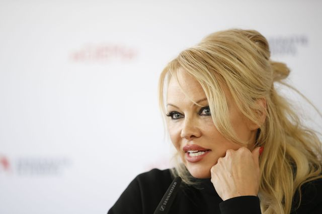 us canadian actress pamela anderson gives a press conference during the elevate festival on february 27, 2019 in graz, austria photo by erwin scheriau  apa  afp  austria out        photo credit should read erwin scheriauafp via getty images