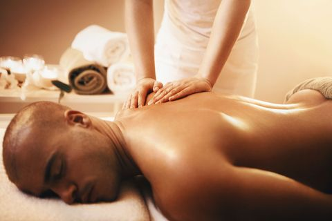 Spa, Skin, Massage, Beauty, Muscle, Massage table, Hand, Neck, Service, Photography,