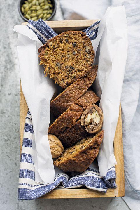 pan de semillas de calabaza y nueces