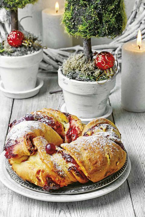 postres de navidad pan dulce de fresas