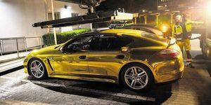 El Porsche Panamera que ha sido retirado de la circulación por su color