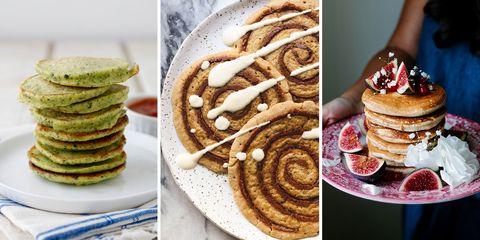 Dish, Food, Pancake, Cuisine, Breakfast, Ingredient, Meal, Dessert, Produce, Baked goods,
