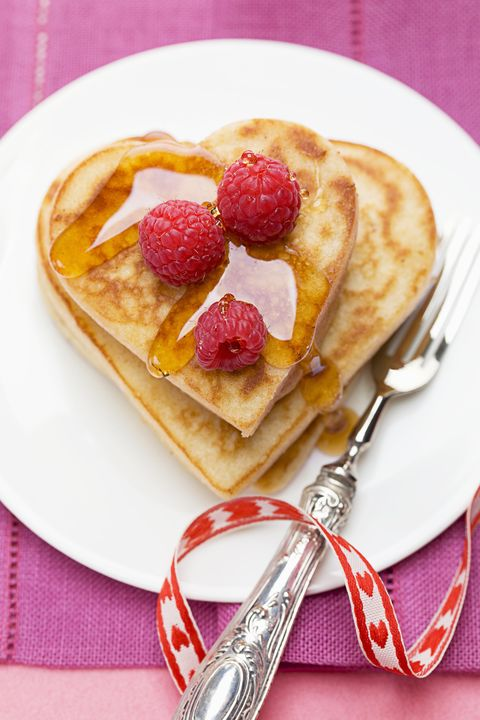 pancakes - heart shaped foods