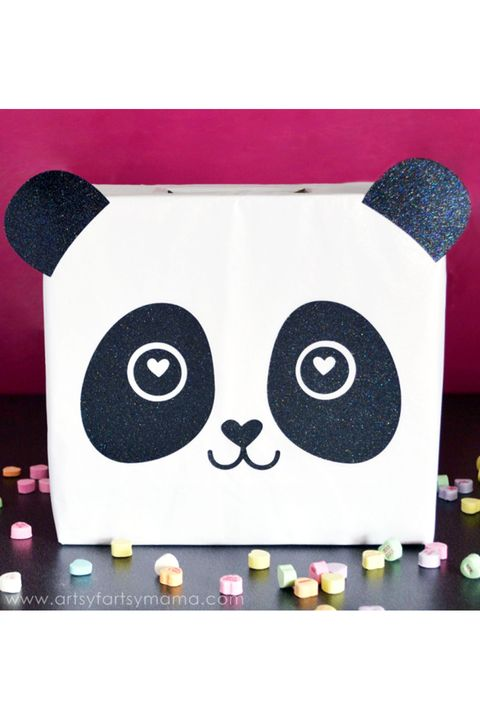 panda valentine card box
