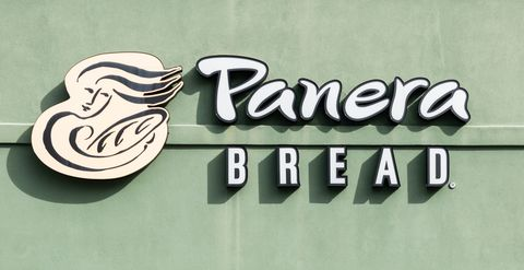 Panera Bread logo in North Brunswick Township, New Jersey...